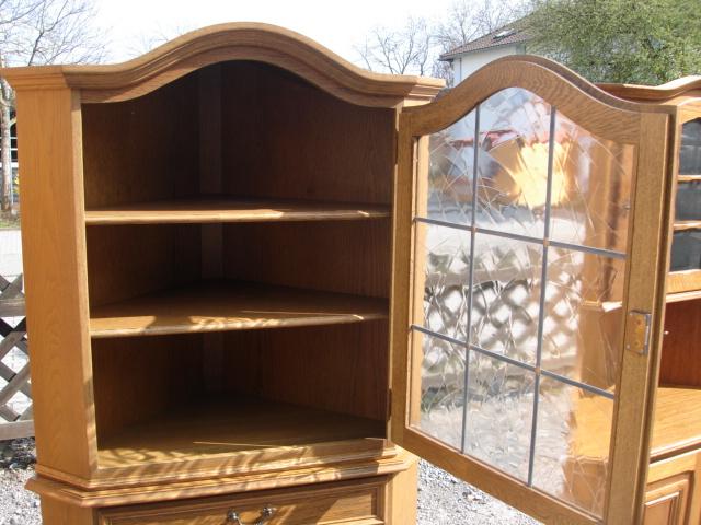 eckschrank eiche rustikal schrank wohnzimmerschrank. Black Bedroom Furniture Sets. Home Design Ideas