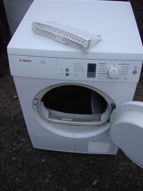 bosch vented dryer maxx 7 sensitive delivery ebay. Black Bedroom Furniture Sets. Home Design Ideas
