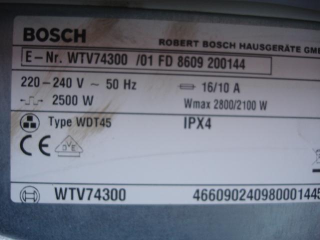 bosch vented dryer maxx 7 sensitive delivery ebay. Black Bedroom Furniture Sets. Home Design Ideas