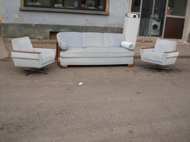 Sofa sessel wei wohnlandschaft kanapee couch ddr for Sofa 30er jahre