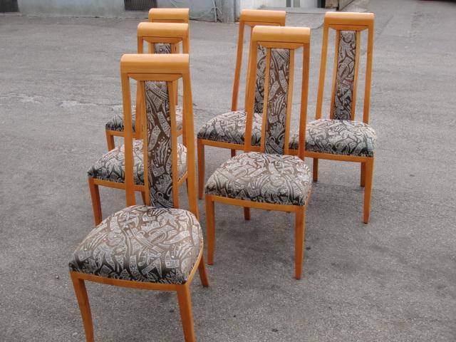 6 st hle kirschbaum kirschholz stoff hochlehner lieferung. Black Bedroom Furniture Sets. Home Design Ideas