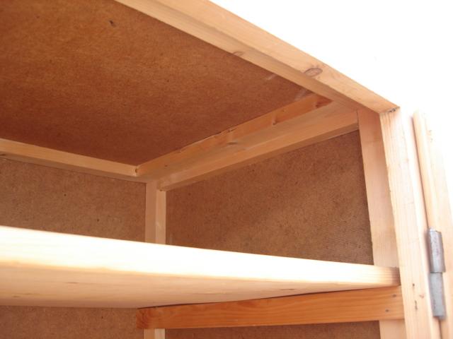 vorratsschrank gitter weichholz lieferung ebay. Black Bedroom Furniture Sets. Home Design Ideas